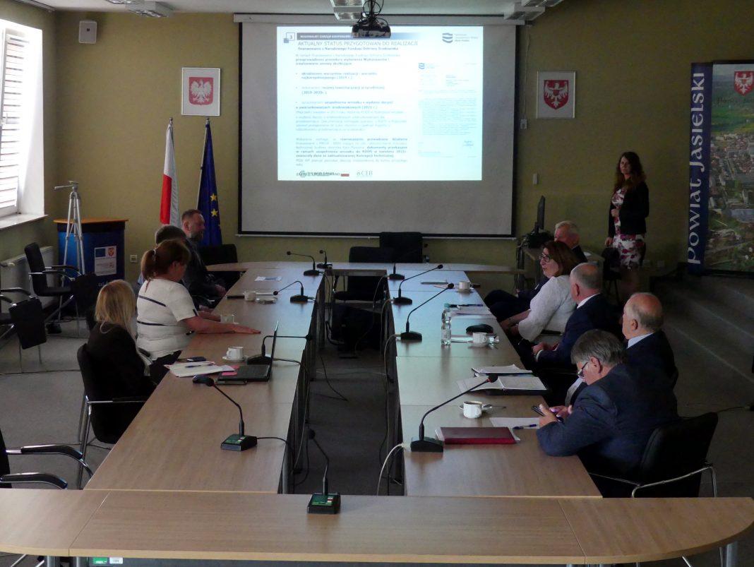 Spotkanie dotyczące postępu prac związanych z budową zbiornika Kąty-Myscowa