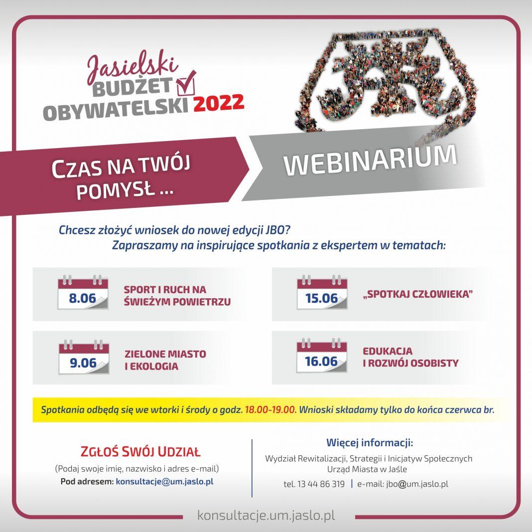 Czas na Twój pomysł! Weź udział w webinarium i złóż wniosek do nowej edycji JBO