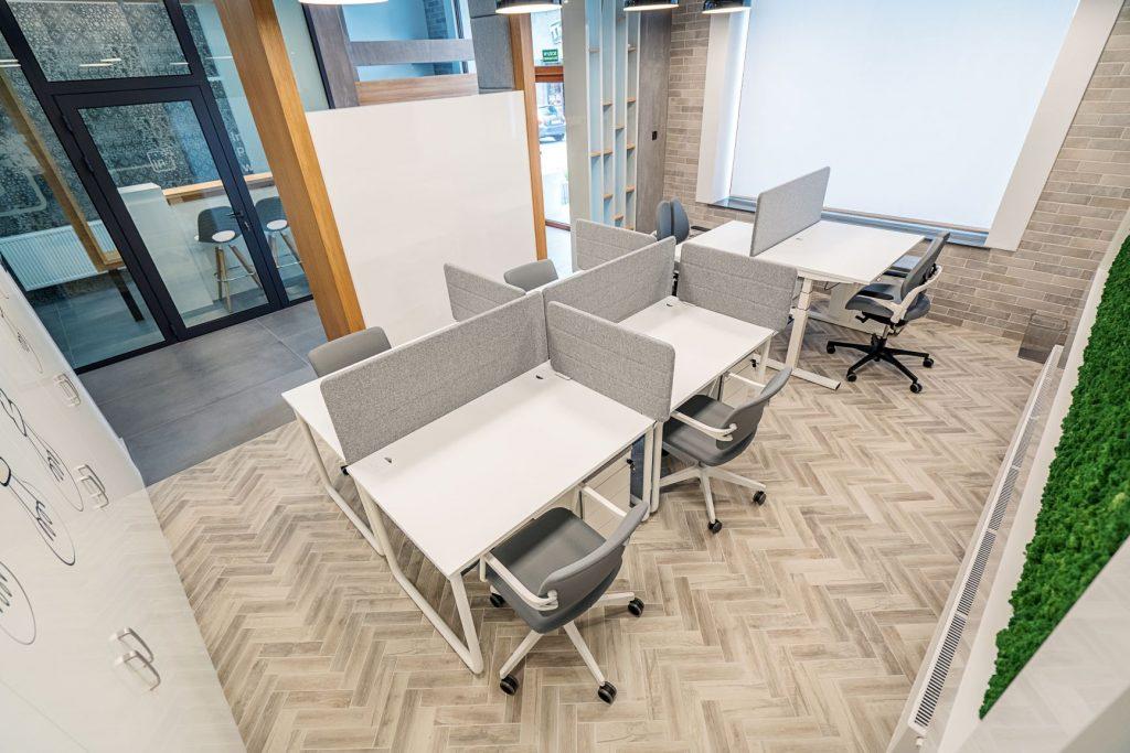 Inkubator Przedsiębiorczości w Jaśle - Stanowiska open space w pomieszczeniu 0.3 (parter)