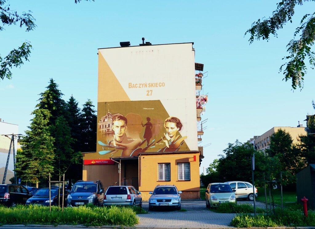Mural Krzysztofa Kamila Baczyńskiego w Jaśle: Miłość jest poezją