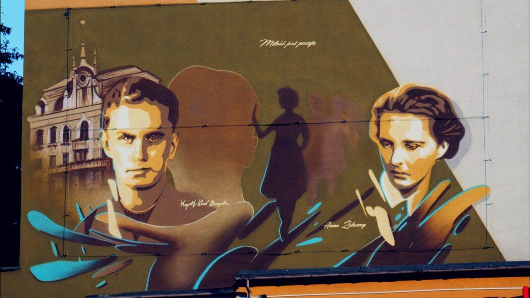 W Jaśle powstał mural Krzysztofa Kamila Baczyńskiego: Miłość jest poezją