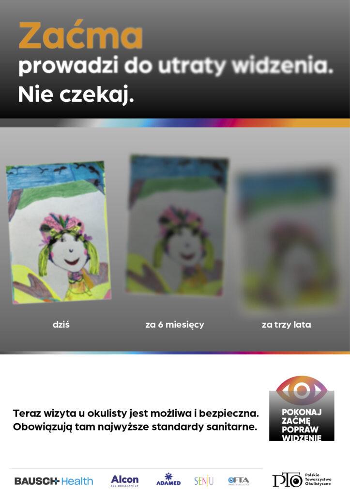 Pokonaj zacme_popraw widzenie - plakat
