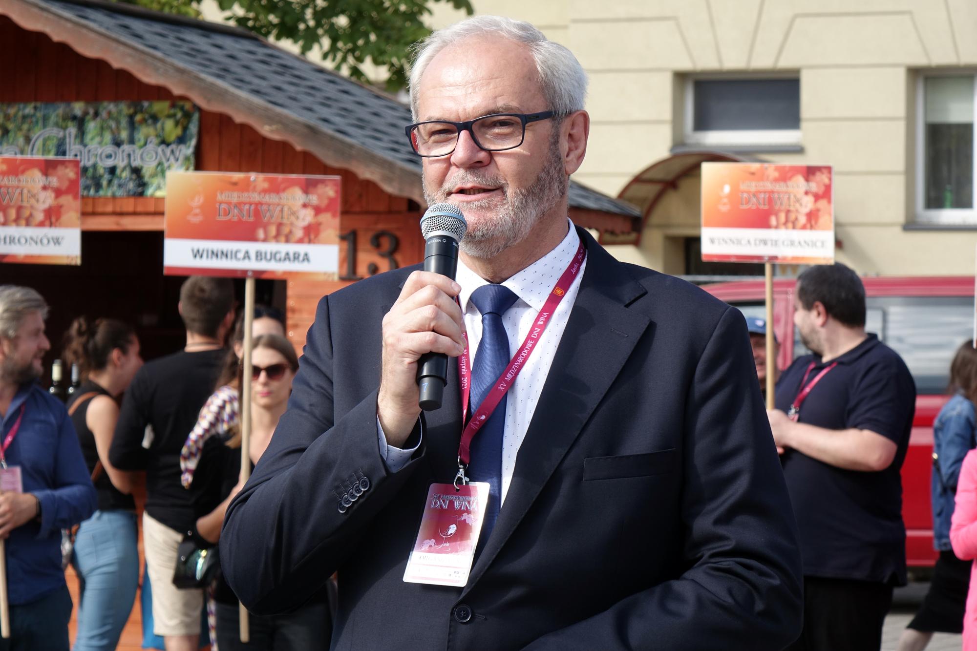 Święto Wina w Jaśle 2021 - Burmistrz Ryszard Pabian