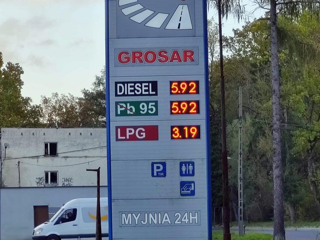 Zatrważające ceny na stacji Grosar w Jaśle. Paliwo niemal po 6 zł